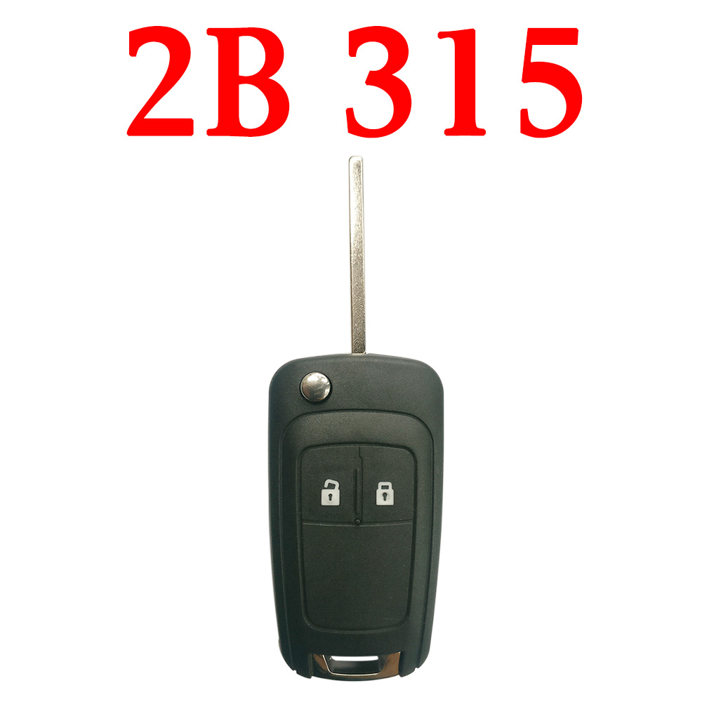 2 Buttons 315 Mhz Flip Remote Key for Buick