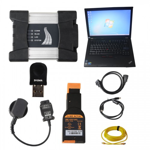 V2021.6 Best Quality WIFI BMW ICOM NEXT A + B + C NEW GENERATION Of ICOM A2 Installed on Lenovo T410 4GB Memory Ready to Use