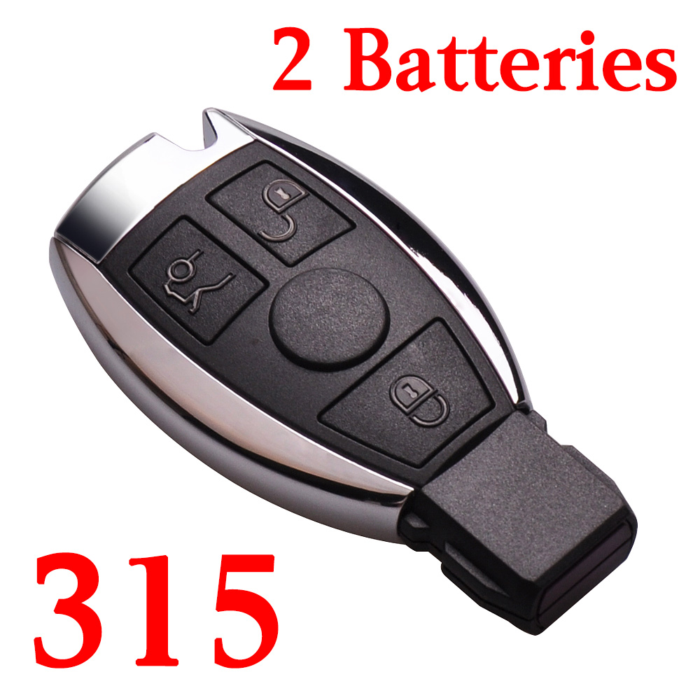 3 Buttons 315 MHz BE Remote Key for Mercedes Benz - with Double Batteries