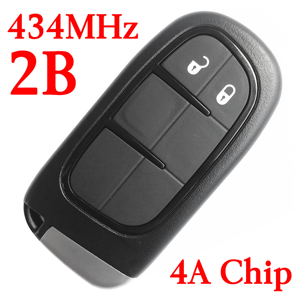 434 MHz 2 Buttons Smart Proximity Key for Jeep Cherokee 2014-2018 GQ4-54T  - 4A Chip