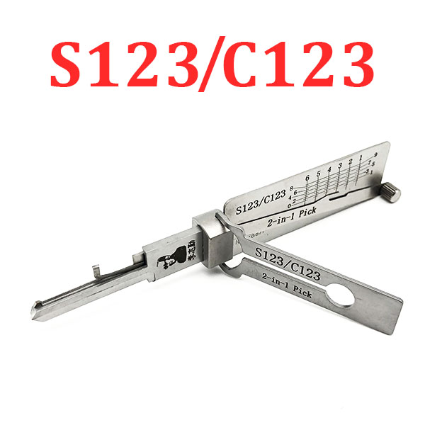 Original Lishi - Schlage C123 S123 / 2-in-1 Residential Pick & Decoder / AG