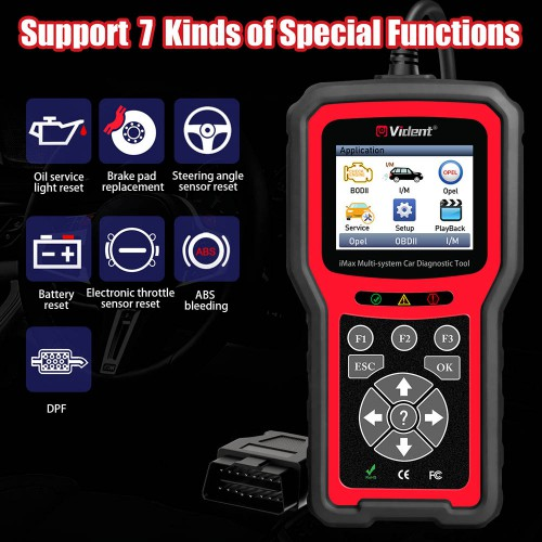 VIDENT iMax4305 OPEL Full System Car Diagnostic Tool for VAUXHALL OPEL Rover Support Reset/OBDII Diagnostic/Service