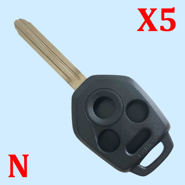 4 Buttons  B110 Remote Head Key Shell for 2012-2019 Subaru - Pack of 5