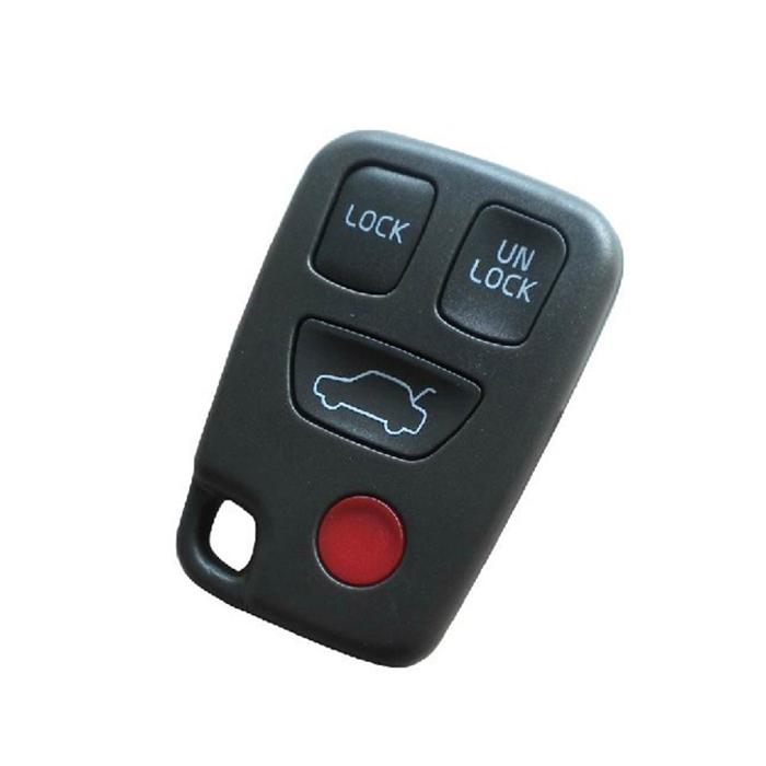 3+1 Buttons key shell for Volvo S40 S60 S70 S80 S90 V40 V70 V90 - Pack of 5