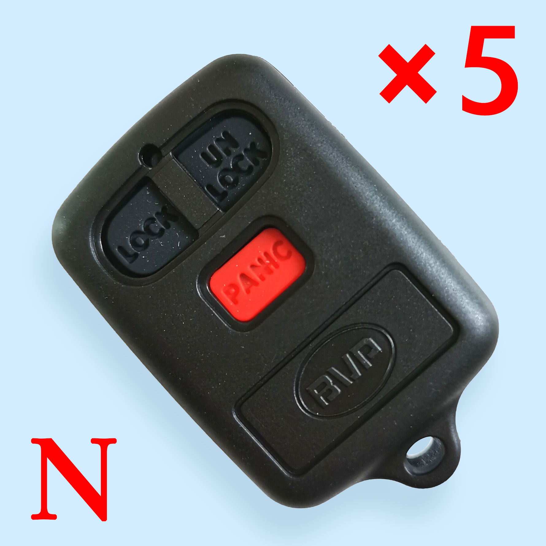 3 buttons key shell for BYD 5 pcs