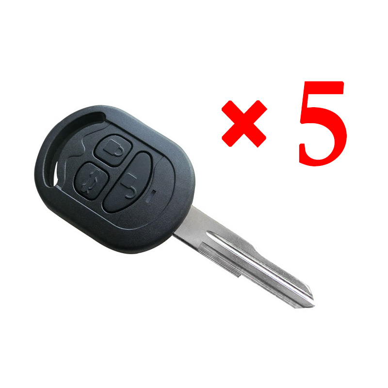 3 Button Right Blade Key Shell for Buick 5pcs
