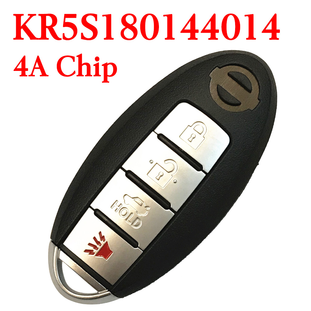 434 MHz 3+1 Buttons Smart Proximity Key for Nissan Altima Maxima 2016-2018 - KR5S180144014 ( with Logo)