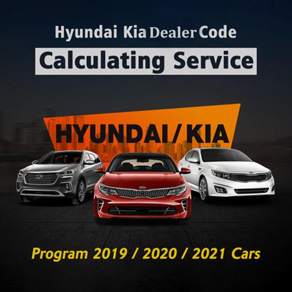 Hyundai Kia Dealer Code Calculating Service to Program 2019 2020 2021 Cars