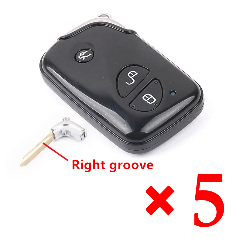3 Buttons Smart Remote Key Shell for BYD S6 G3 F3 F0 L3 Replacement Car Key Blanks Case with Right groove blade 5pcs