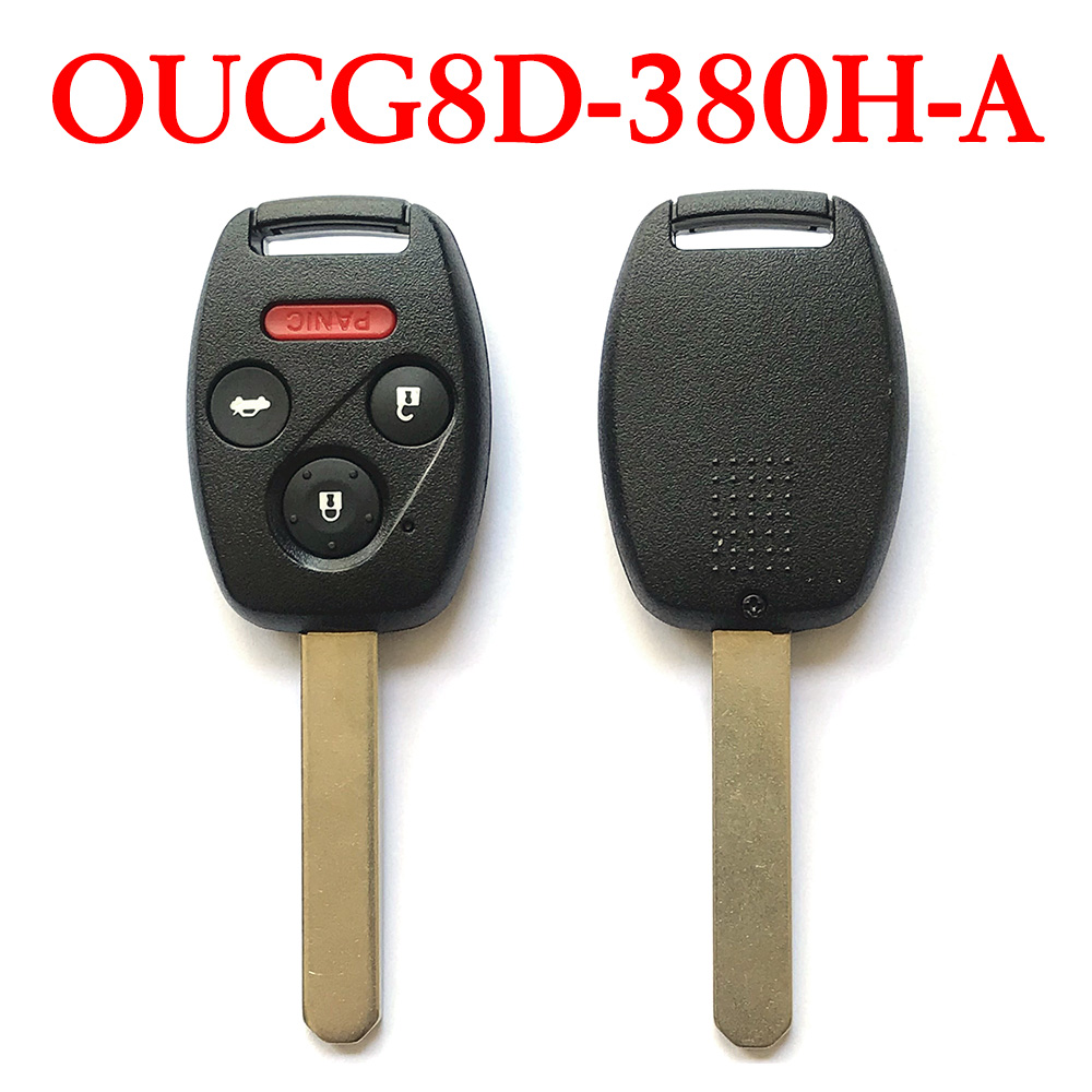 3+1 Buttons 313.8 MHz Remote Head Key for Honda Accord / Element 2003-2010 - OUCG8D-380H-A