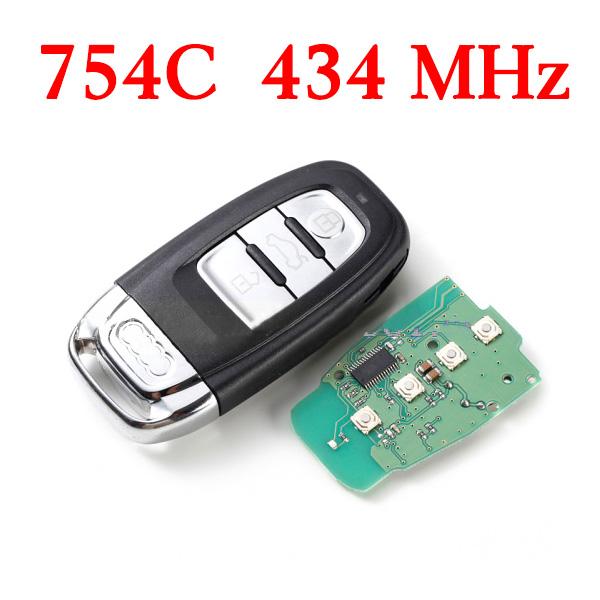 3 Buttons 434 MHz AUDI Q5 A4L Remote Key 754C