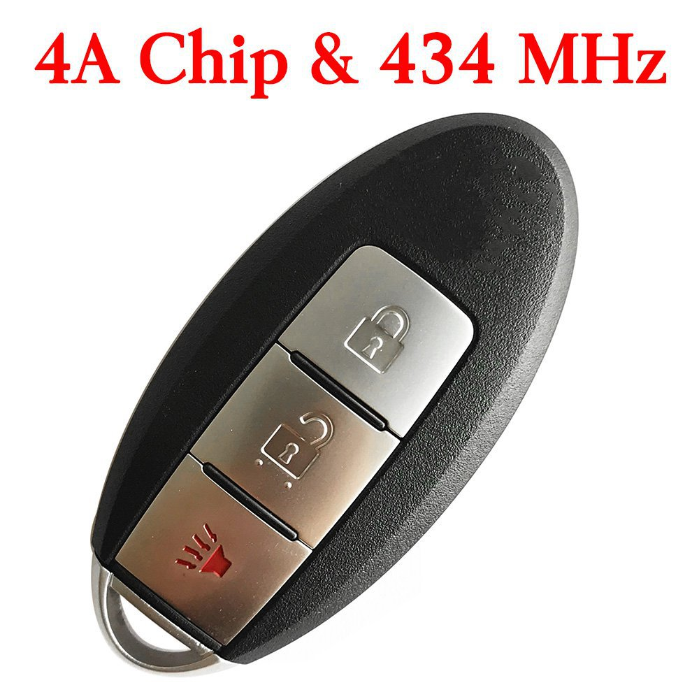 434 MHz 2+1 Buttons Smart Proximity Key for Nissan Murano S Pathfinder Titan 2015-2017 - KR5S180144014 (4A Chip)