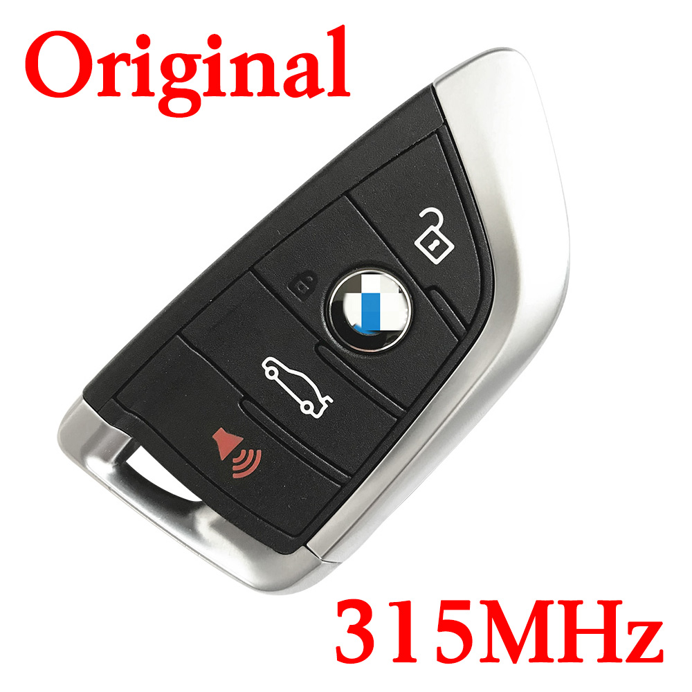 Original 4 Buttons 315 MHz Smart Proximity Key for 2014-2018 BMW 5 X5 X6 - CAS4 CAS4+ FEM BDC Universal Key