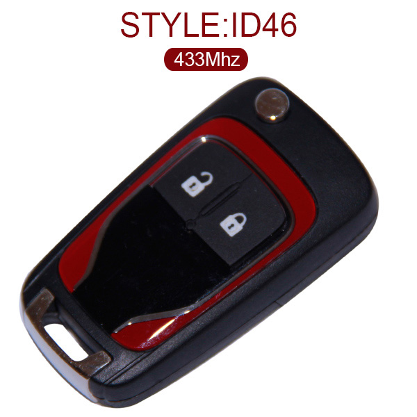 AK022001 for Holden 2 Button Flip Remote Control Key 433MHZ ID46