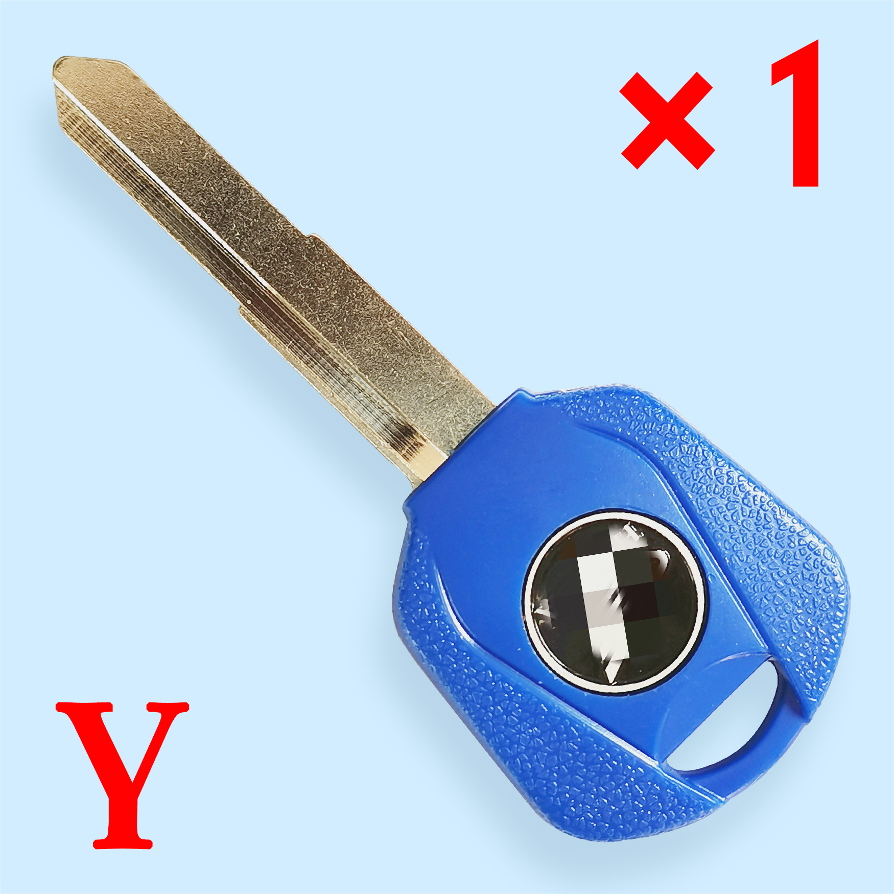 Transponder Key Shell with Left Blade Blue color for Honda Motorcycle