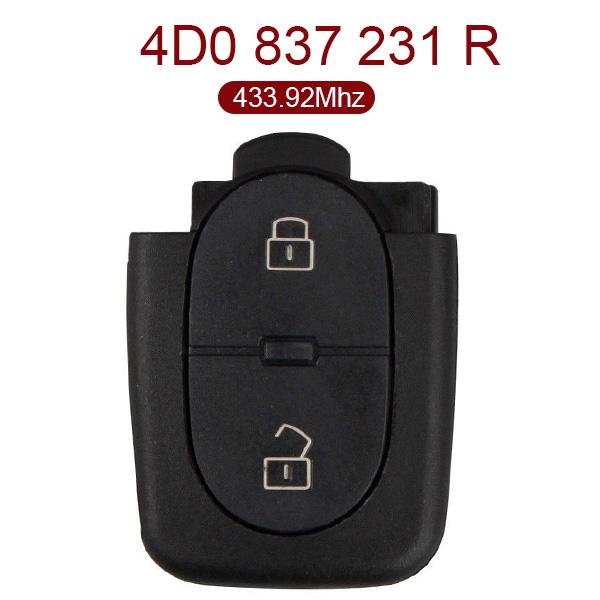 for VW Remote Key 2 Button 433.92MHz 4D0 837 231 R