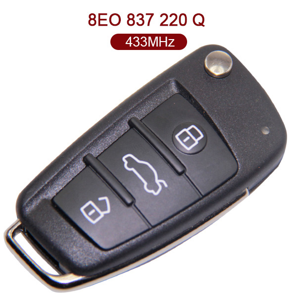 434 MHz Smart Key for Audi A4 - ID48 - 8E0 837 220Q