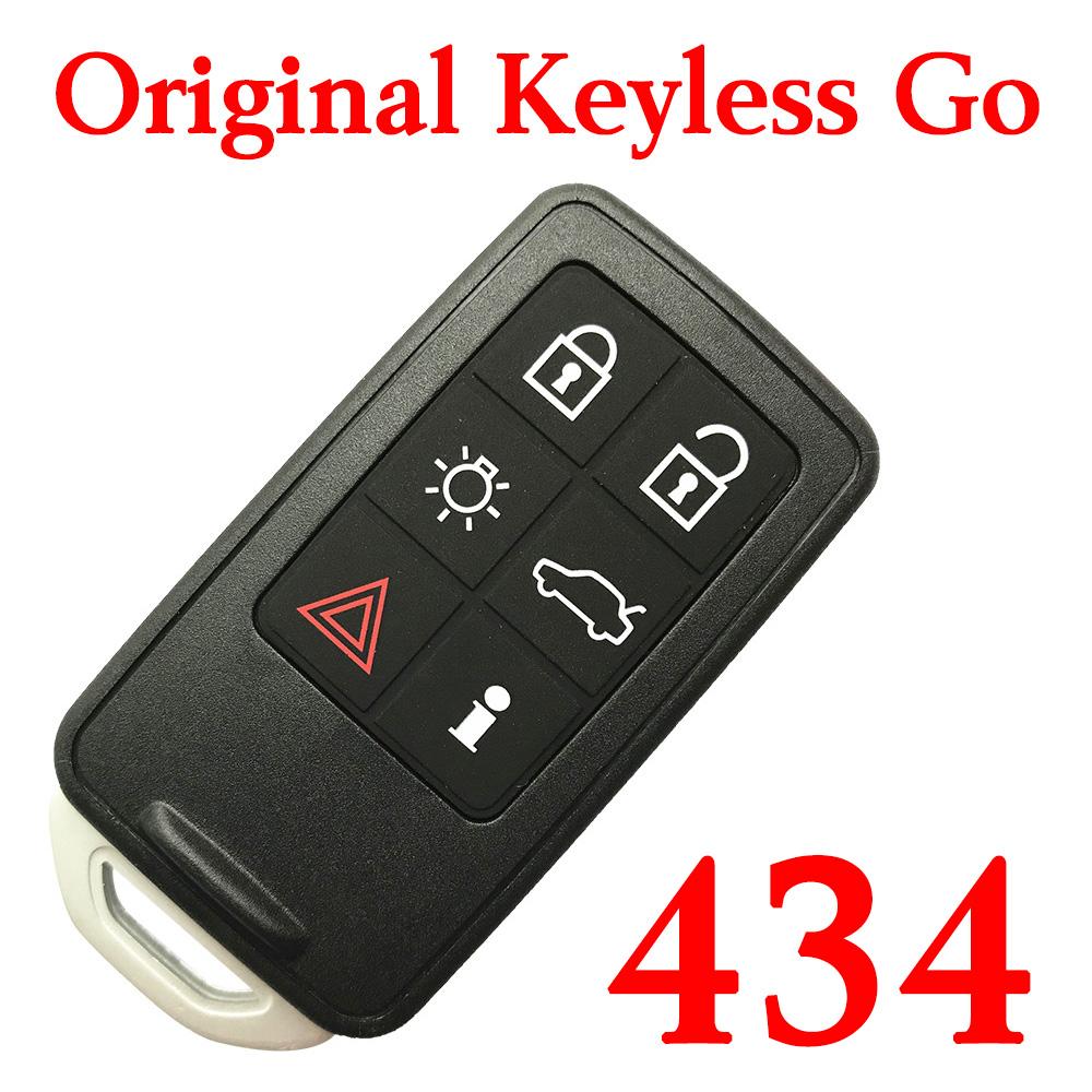 Original 434 MHz 5+1 Buttons Smart Proximity Key for Volvo S60 V60 XC60 S80 - Keyless Go