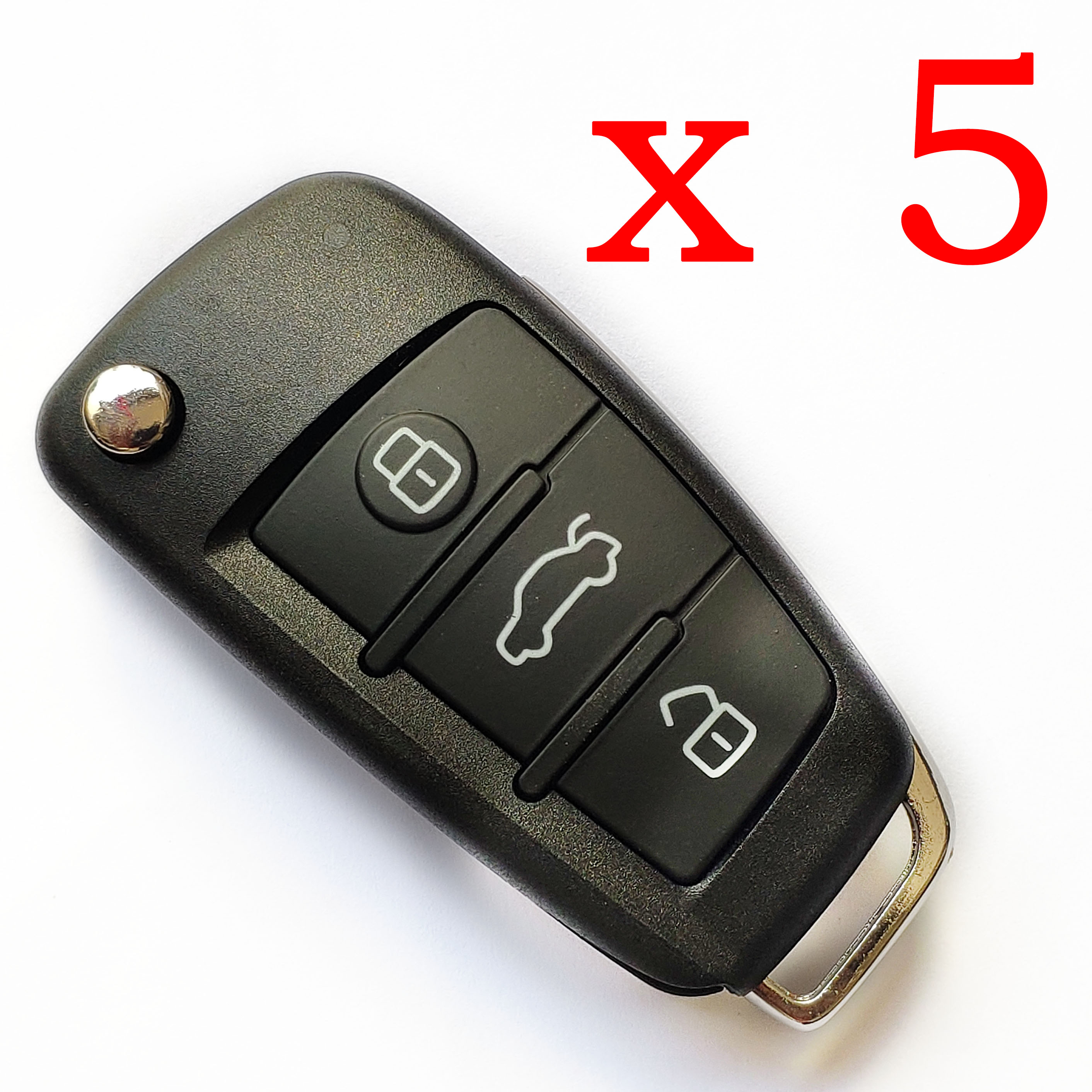 5 pieces Xhorse VVDI Audi A6 Wire Type Universal Remote Key