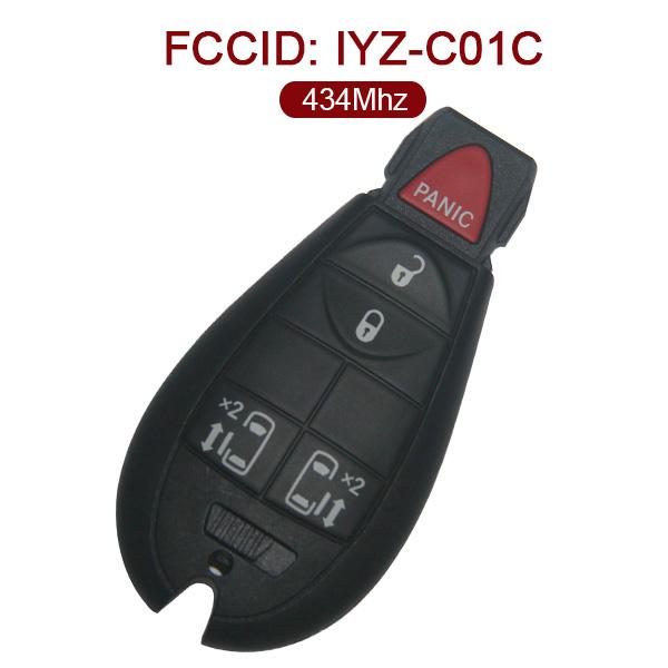 AK001077 for VW Smart Key 4+1 Button 434MHz PCF7941 IYZ-C01C