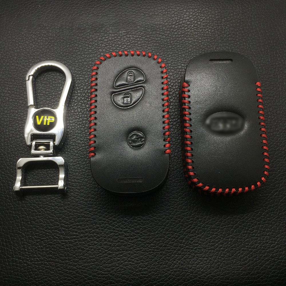 Leather Case for BYD 3 Buttons Black Smart Card Car Key - 5 Sets
