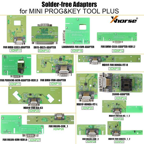 Xhorse XDNPP0CH 16pcs Solder-Free Adapters and Cables Full Set Work with MINI PROG and KEY TOOL PLUS